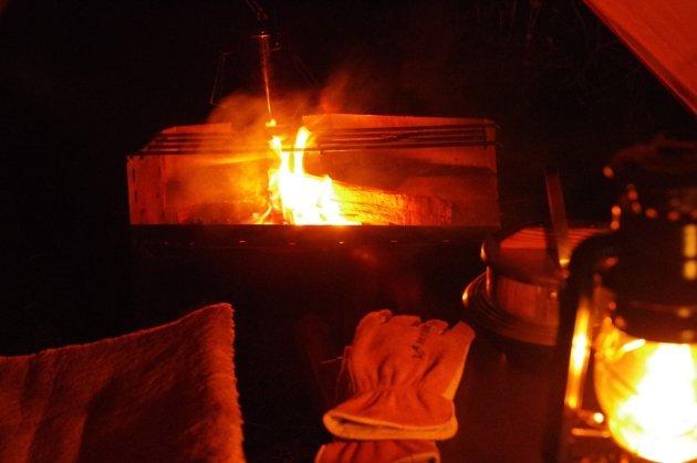 いよいよ冬キャンプの寒さになった粕川オートキャンプ場にて
