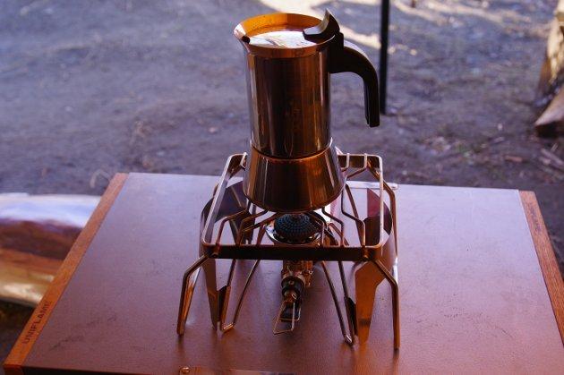 粕川オートキャンプ場 朝はビーナスでコーヒーを
