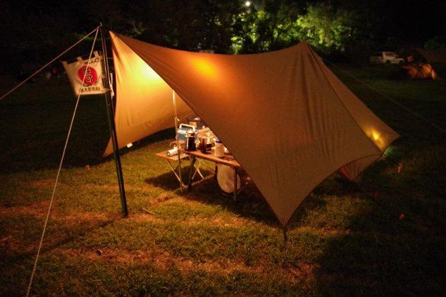 パンダでソロキャンプ