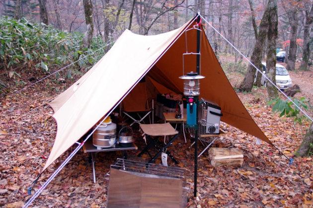 パンダTCタープで過ごす山のキャンプ場