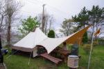 平成と令和をつなぐファミリーキャンプ旅 青森県三沢オートキャンプ場の朝