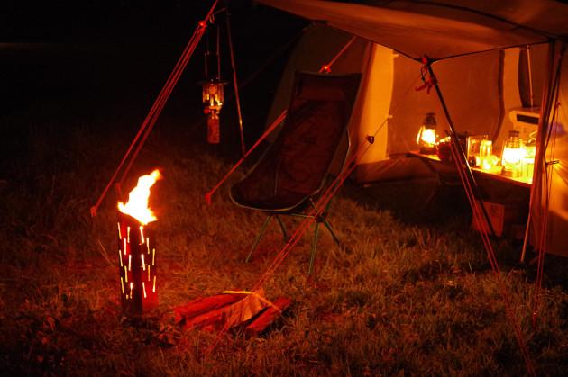 テントとUFファイアポット