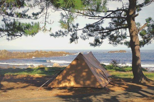 鮎川園地キャンプ場の穏やかな朝