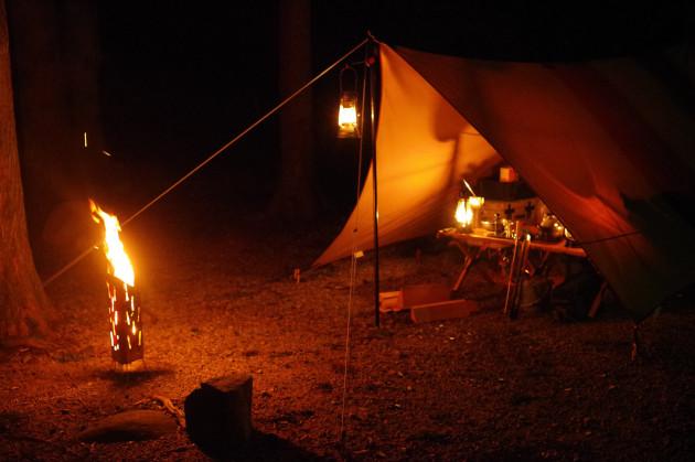 めいほうキャンプ場でソロキャンプ