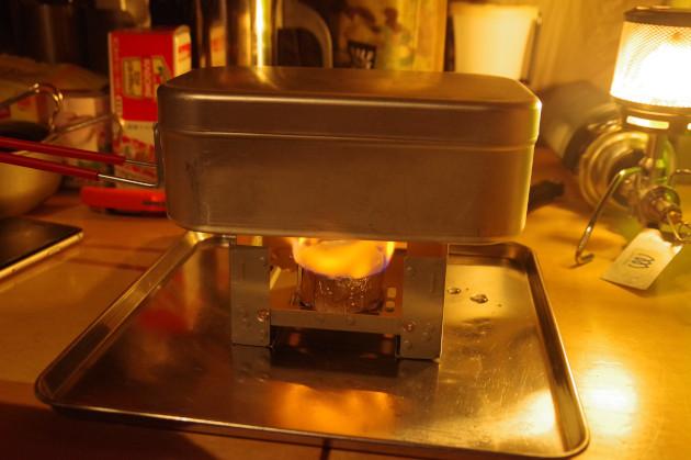 trangiaのメスティンと固形燃料で自動炊飯は本当に出来るか?