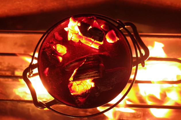 6インチスーパーディープと焚き火で遊ぶ