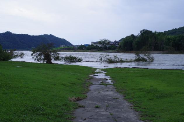 木曽川が氾濫