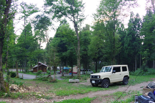 三国山森林公園キャンプ場へ到着