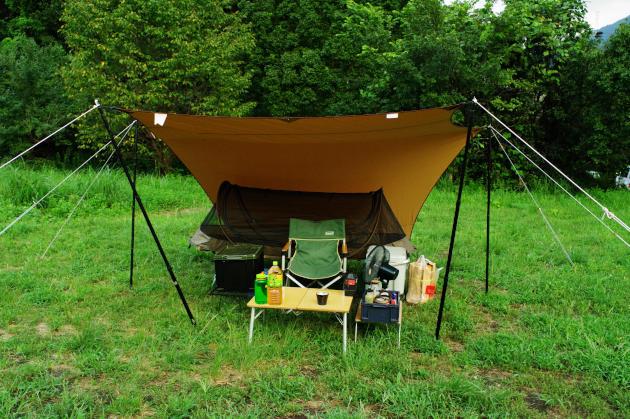 神洞ぼたるの里公園キャンプ場でソロキャンプ