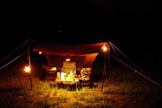 夜のソロキャンプ