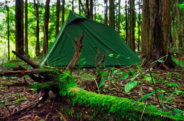 岐阜の森の中で野営をする 中編