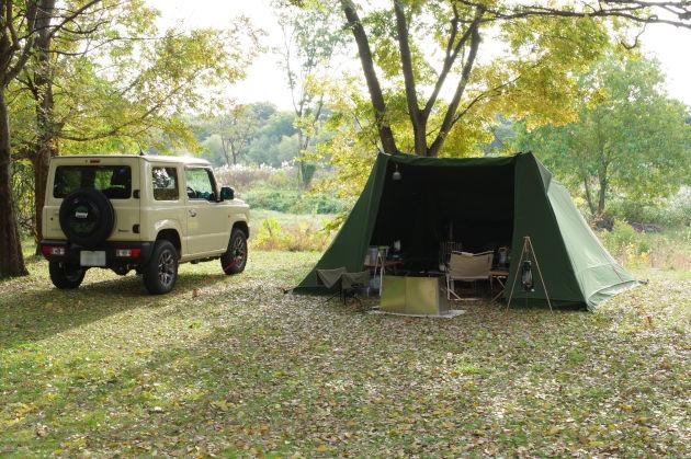 日曜日の朝の野営地