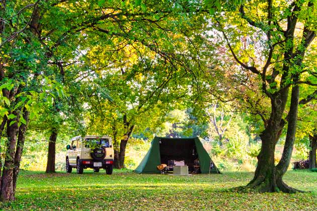秋の野営地
