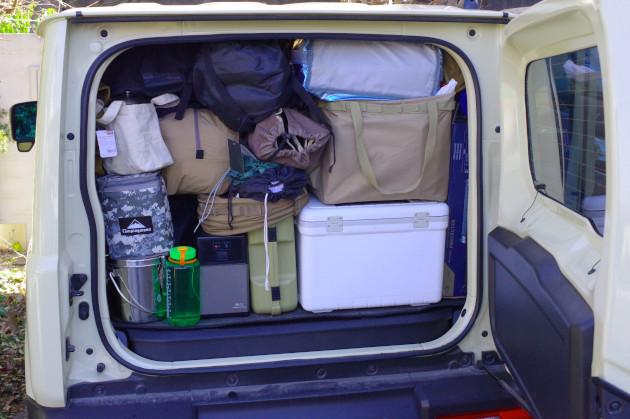 荷物満載のジムニー