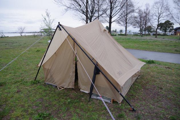 日曜日はテントが少ない
