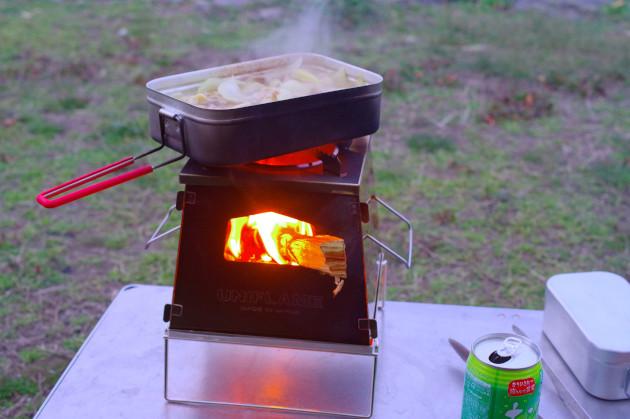 ネイチャーストーブラージがソロキャンプの焚き火調理で手放せない!