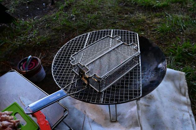 炭火もも焼き器