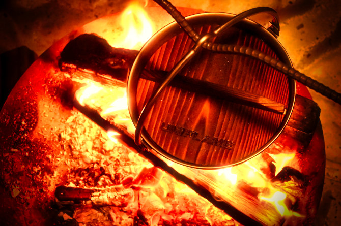ユニフレームの焚き火鍋18cmではじめよう!ソロキャンプ直火調理