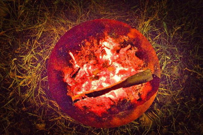 赤い夕陽に癒された新野営地でのソロキャンプ 後編