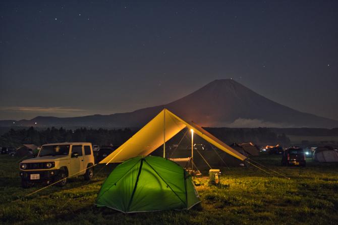 ふもとっぱらで富士山の絶景を眺めたい夫婦の夏キャンプ 第一話