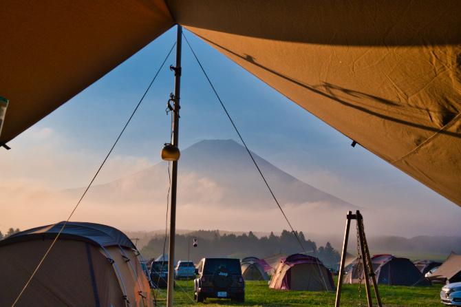 3日目の朝の富士山