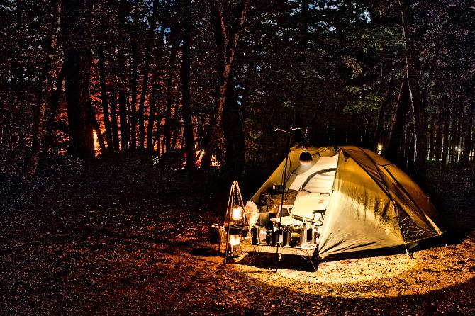 台風一過のひるがの高原キャンプ場でソロキャンプ
